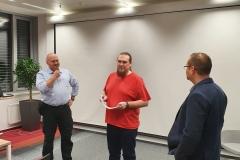 Oleg Smirský a Jakub Wasilewski prezentují práci teamu