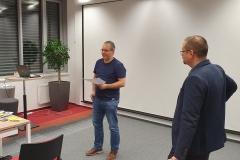 Dušan Kollár prezentuje práci teamu
